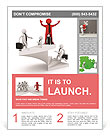 The image of the career ladder Flyer Template
