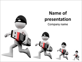 The images of a man with skateboard PowerPoint Template