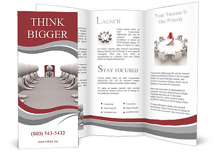 The Meeting With The Head Of The Office Brochure Template Design