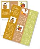 Jars of honey Newsletter Templates