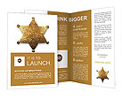 Old sheriff star from the wild west era isolated on white with a carefully drawn clippin path Brochure Templates