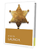 Old sheriff star from the wild west era isolated on white with a carefully drawn clippin path Presentation Folder