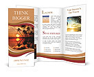 Beautiful sunset, relaxation Brochure Templates