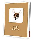 Flight of bees on a white background Presentation Folder