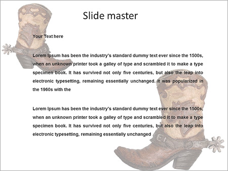 cowboy boots powerpoint template backgrounds google slides id