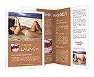 The girl sunbathes in the solarium Brochure Templates