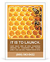 Honeycomb and bees Ad Template