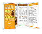 Honeycomb and bees Brochure Templates