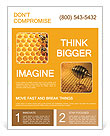 Honeycomb and bees Flyer Template