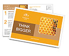 Honeycomb and bees Postcard Template