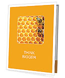 Honeycomb and bees Presentation Folder