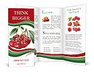 Fresh cherries Brochure Templates