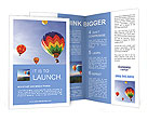 Multi-colored balloons in the sky Brochure Templates