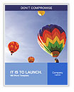 Multi-colored balloons in the sky Word Templates
