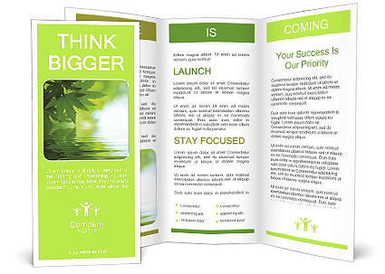 Green leaf fell into the water Brochure Template & Design ID ...