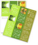 Green leaf fell into the water Newsletter Templates