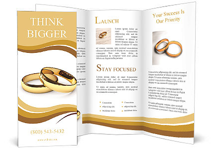 Wedding Rings On A White Background Brochure Template Design ID - Wedding brochure templates