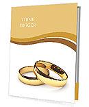 Wedding rings on a white background Presentation Folder