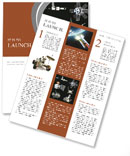 Orbiting satellites Newsletter Template