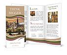 Notre Dame, Paris, France Sunset Brochure Templates