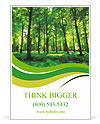 Beautiful thick green forest Ad Templates