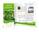 Beautiful thick green forest Brochure Templates