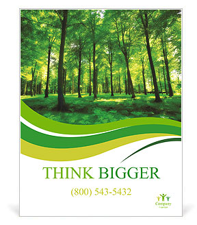 Beautiful thick green forest Poster Template & Design ID 0000010741 ...