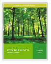 Beautiful thick green forest Word Templates
