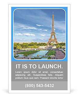 eiffel tower paris romance ad template design id 0000010747