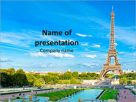 eiffel tower, paris romance powerpoint template & backgrounds id, Modern powerpoint