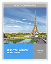 Eiffel Tower, Paris romance Word Templates