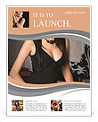 Elegant woman in a black dress in the casino Flyer Template