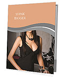 Elegant woman in a black dress in the casino Presentation Folder