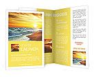 Sun sea beach Brochure Templates