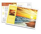Sun sea beach Postcard Template