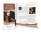 Charming brunette Brochure Templates