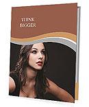 Charming brunette Presentation Folder