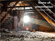 Mount debris on the old attic sunlight PowerPoint Templates