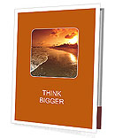 Beautiful sunset on the beach Presentation Folder