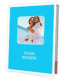 Couple in love on the shore of the ocean Presentation Folder
