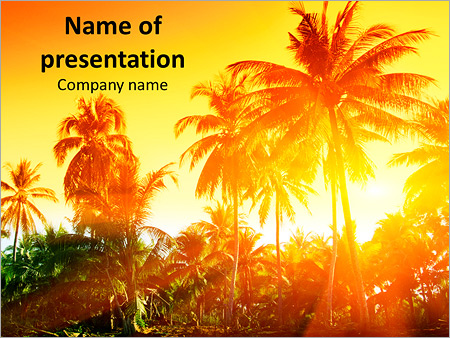 jungle of thailand sunset powerpoint template backgrounds google
