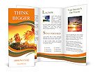 Jungle of Thailand sunset Brochure Templates
