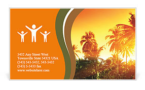 Jungle of Thailand sunset Business Card Template