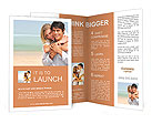 Happy couple on the beach Brochure Templates