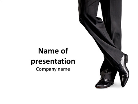 Elegant Black Shoes And Pants On A White Background Powerpoint