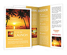 Palm trees and a beautiful summer sunset Brochure Templates
