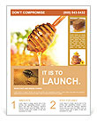 Honey and honeycomb Flyer Template