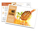 Honey and honeycomb Postcard Template