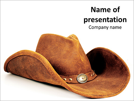 The Real Wild West Cowboy Hat PowerPoint Template