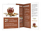 Jar of honey and spices Brochure Templates
